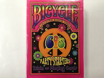 1 DECK  Bicycle 60's Deckades, Party Starters - Trivia and Playing Cards