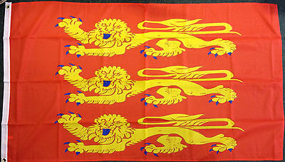 Upper Normandy Flag French France Norman 1066 Saxons Heraldic Historical 5x3 bn