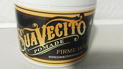 Suavecito Pomade Firme Hold  Strong Hold  4 Oz  113 Gr.all Hair Types Wet Look
