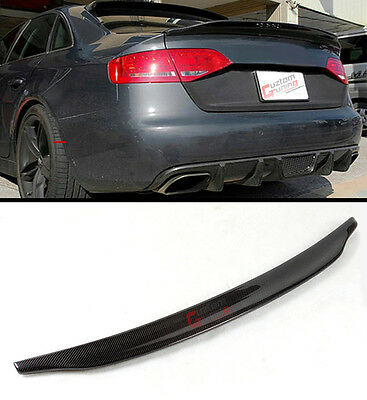 For 2013-2016 Audi A4 High Kick Duckbill Real Carbon Fiber Trunk Spoiler Wing