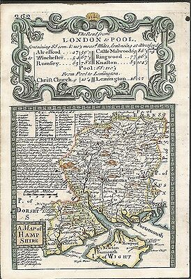 Antique map, Hampshire / The Road from Kendal to Cockermouth &c.
