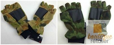 Auscam Polar Fleece Fingerless Gloves w THINSULATE Lining Winter Warm Mens 2035