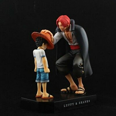 "New One Piece Anime 6.2"" Memories Child Luffy & Shanks Promise Figures Set"