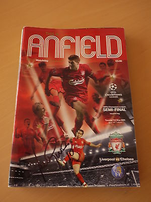 Signed Luis Garcia Liverpool 2005 Champions League Semi-Final Programme - C.O.A.