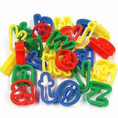 Alphabet Number Cutters Lower & Uppercase You Choose Bright Plastic Sets Dough