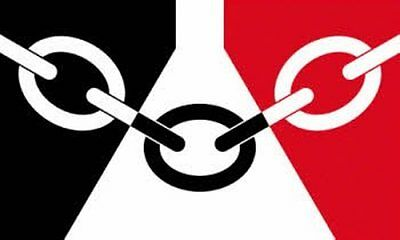 Black Country Flag 5Ft X 3Ft With Two Metal Eyelets