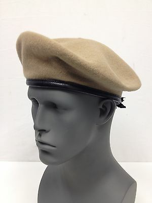 NEW US Military Issue Inspection Ready Tan Wool Beret SIZE 6 3/4 DSCP SMALL