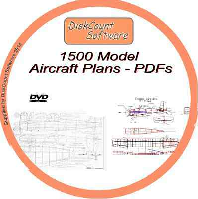 1500 Model Aircraft Airplane plans On DVD in PDF format