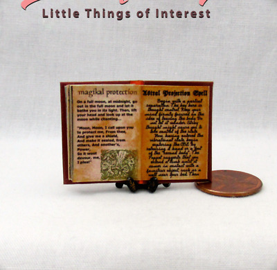 PRACTICAL MAGIC SPELL BOOK Miniature Dollhouse 1:12 Scale Illustrated Book