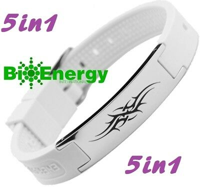 Silicone Magnetic Energy Germanium  Power Bracelet Health 4in1 Bio Armband BAND