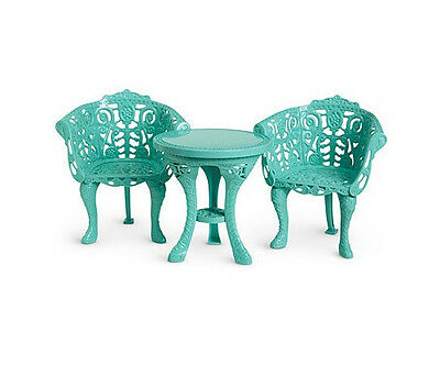 """American Girl MARIE GRACE COURTYARD FURNITURE for 18"""" Dolls NEW Table & Chairs"""