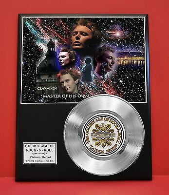Clay Aiken Limited Edition Platinum Record Award Display