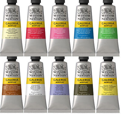 Winsor & Newton Galeria Acrylic Paint 60ml - 60 Colours Available