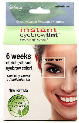 Godefroy Instant Eyebrow Tint Permanent Color Kit Natural (Choose Color)