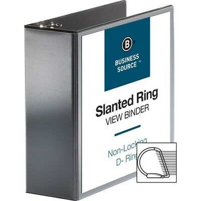 "D-Ring View Binder, 4"" Capacity, 11x8-1/2"", Black BSN28450"