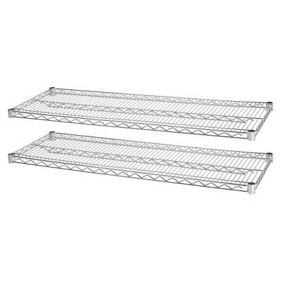 "Industrial Wire Shelving, 2 Extra Shelves,48""x18"", 2/PK, CE LLR84183"