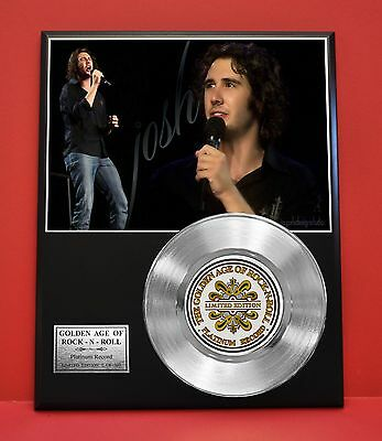 Josh Groban Limited Edition Platinum Record Award Display