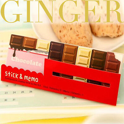 Chocolate Bar Type - Cute Funny Sticker Post It Bookmark Sticky Notes 90 Pages