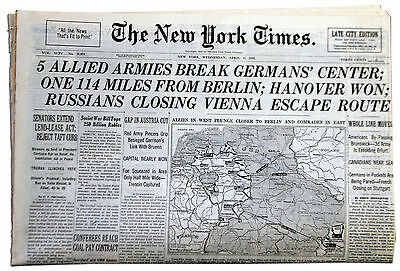 NY Times 4/11/45 Final Offensive has Begun