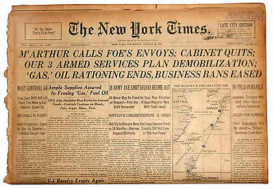 NY Times 8/16/45 Hirohito Orders His Soldiers to Cease
