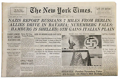 NY Times 4/21/45 The Start of The Battle of Berlin