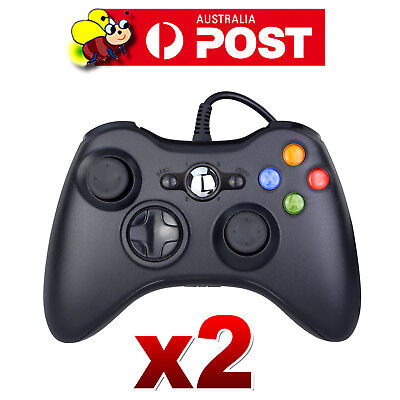 2x USB Wired Controller For Xbox 360 Slim PC Games Windows7 Win8 Window10