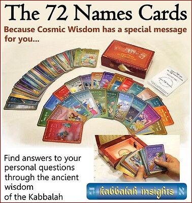The 72 Names Kabbalah oracle cards