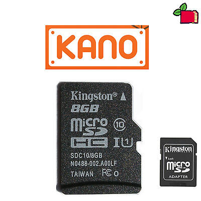 8GB CLASS10 SD Card Preloaded with KANO Preinstalled for Raspberry Pi
