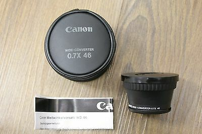 Canon WD-46 0.7x Wide Converter Lens