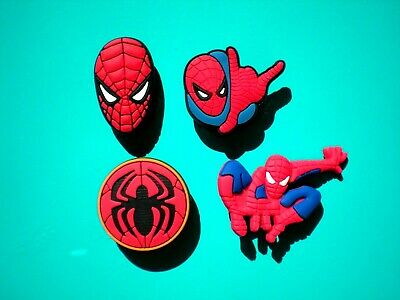 Clog Shoe Plug Button Charm Fit Jibbitz WristBand Spiderman Fit Crocs Spiderman