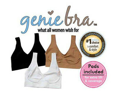 90c57c2ad75 NEW! GENIE BRA with Removeable Pads - White