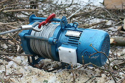 Professional Winch XT100, Skidding Draughts great Pull strength 328ft Steel cord