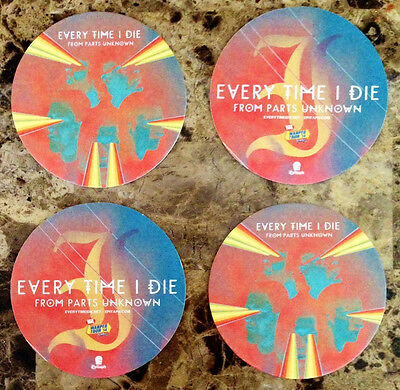 EVERY TIME I DIE From Parts Unknown Ltd Ed RARE 4 Coasters Set! ETID Low Teens