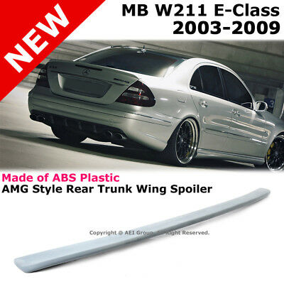 MB W211 E-Class 2003-2009 AMG Style Rear Trunk Lip Spoiler Unpainted Stick On