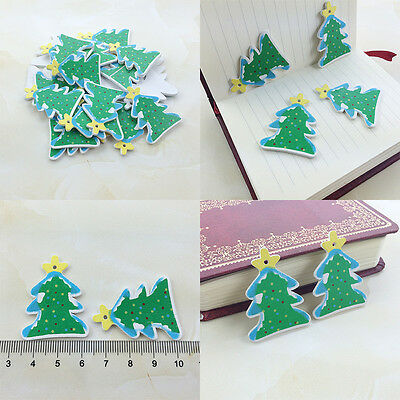 50Pcs Wholesale Wooden Xmas Tree Scrapbooking Christmas lightings/Card