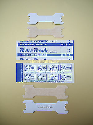 5 - 50 BETTER BREATH TAN NASAL STRIPS ❤ Regular or LARGE ❤ Right Aid to Breathe