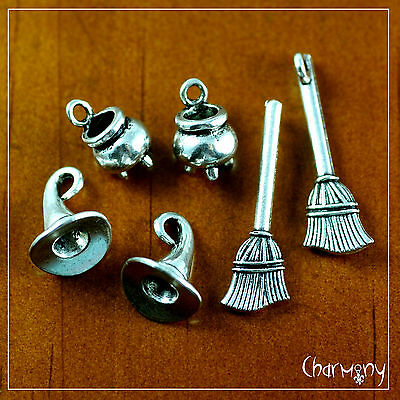 Witch's Brew charm sets ~OPTIONS~ cauldron broomstick broom hat halloween witch