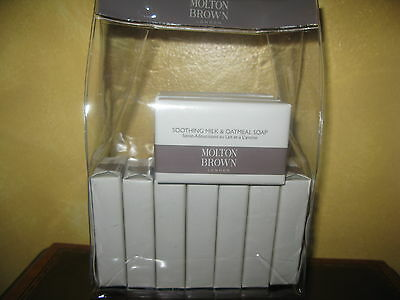 Brand New Wrapped MOLTON BROWN Soothing Milk & Oatmeal Soap 75g x 10 Bars in Bag
