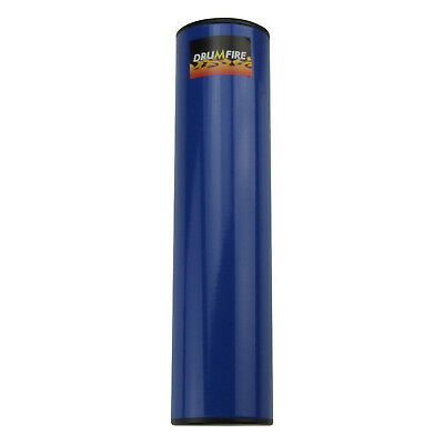 """New Drumfire 8"""" Cylindrical Metal Shaker Hand Percussion (Blue)"""