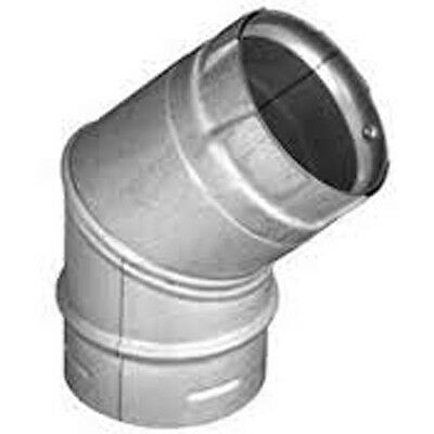 "Simpson Dura-Vent 3PVP-E45 3"" Pellet Chimney elbow 45°"