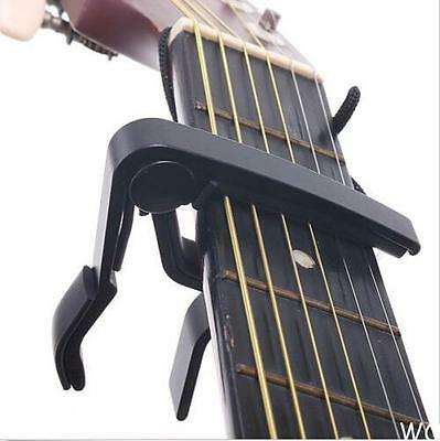 WO AU Quick Change Clamp Key Capo For Acoustic / Electric / Classic Guitar Black