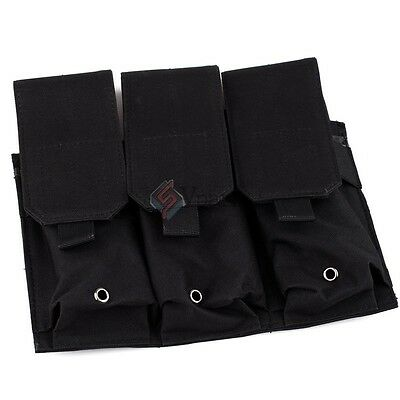 Black  MOLLE Tactical Triple Pistol  Mag Magazine Clip Holster Pouch