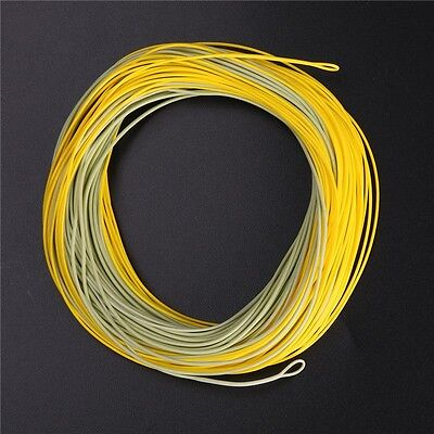 Smooth Casting Fly Fishing Line Weight Forward WF3F 80FT 3wt Yellow&green