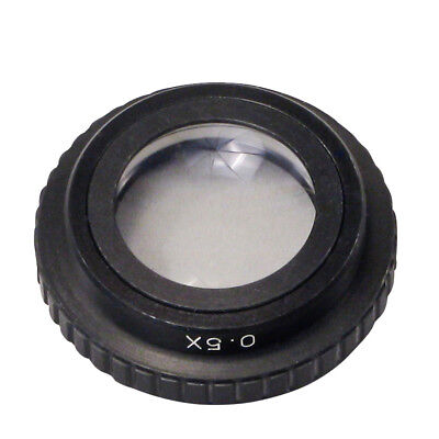 Add-on 0.5X Aux Objective Lens for Stereo Microscope 50mm