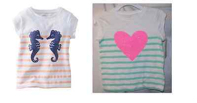 JOE FRESH Girls Baby//Toddler Neon Graphic Tee shirts Mulit Tailles Neuf Avec Étiquettes
