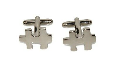 Men's Puzzle Piece Autism Awareness Cufflinks and Gift Box
