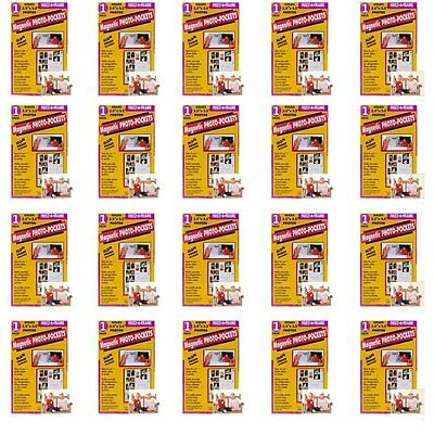 20 Pack Freez A Frame Magnetic Photo Pocket Wallet Size 2.5x3.5,(1 per package)