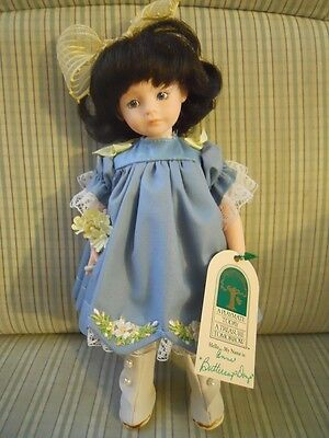 """1990 Robin Woods Signed Doll app. 8"""" """"Anne"""" Beautiful, Rare, Made in the USA"""