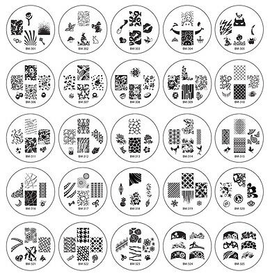 Bundle Monster 25pc Nailart Polish Stamping Plates Image Designs 2012 Collection