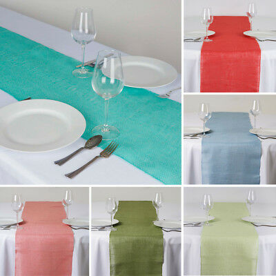 """20 BURLAP TABLE RUNNERS 14x108"""" Rustic Natural Country Wedding Party Catering"""